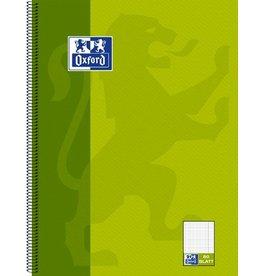 Oxford Collegeblock, kariert/liniert in Einem, A4, hellgrün, 80 Blatt
