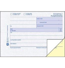 AVERY Zweckform Einnahme-/Ausgabebeleg, A6q, 2f., sd, 1./2.Bl.bedr., Pap., 2x40Bl.