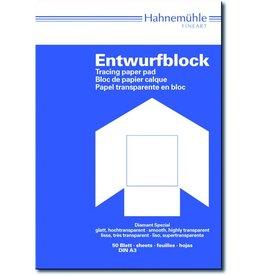 Hahnemühle Entwurfblock Diamant Spezial, A3, 80/85g/m², transparent, 50 Blatt