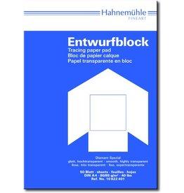 Hahnemühle Entwurfblock Diamant Spezial, A4, 80/85g/m², transparent, 50 Blatt