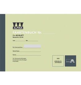 Leykam Alpina Fahrtenbuch, selbstdurchschreibend, A5 quer, 2 x 40 Blatt