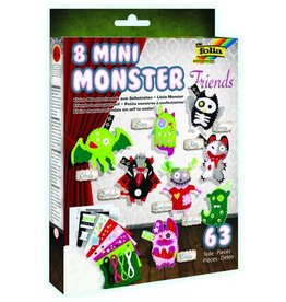 folia Filz Mini Monster Friends, Bastelset, 18,2 x 26 cm