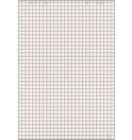 LANDRÉ Flipchartblock, kariert 25 mm, 68x99cm, 80 g/m², RC, weiß, 20 Blatt