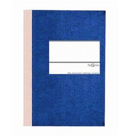 PAGNA Geschäftsbuch Karton, kar., A5, Einband: blau, 96Bl. [4st]