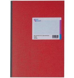 K&E Geschäftsbuch, Glanzkarton, kariert, A4, Einband: rot, 48Bl.