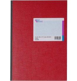 K&E Geschäftsbuch, Glanzkarton, kariert, A4, Einband: rot, 96Bl.