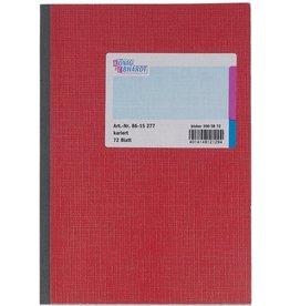 K&E Geschäftsbuch, Glanzkarton, kariert, A5, Einband: rot, 72Bl.