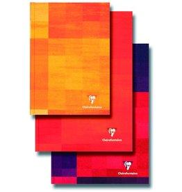 Clairefontaine Geschäftsbuch, kar., A4, 90g/m², schneewe, Einband: blau, 96Bl.