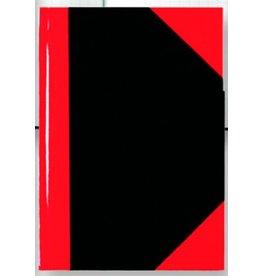 STYLEX Geschäftsbuch, kariert, A5, Einband: schwarz/rot, 96 Blatt