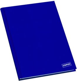 STAPLES Geschäftsbuch, kariert, A6, 80 g/m², Einband: blau, 96 Blatt