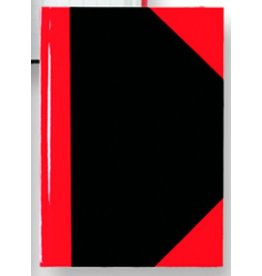 STYLEX Geschäftsbuch, kariert, A6, Einband: schwarz/rot, 96 Blatt