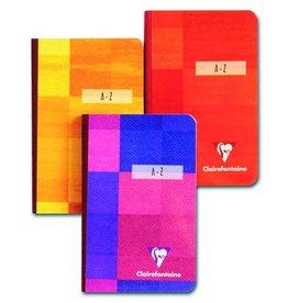 Clairefontaine Geschäftsbuch, Karton, lin., Reg.A-Z, A5h, Einband: sort., 96Bl.