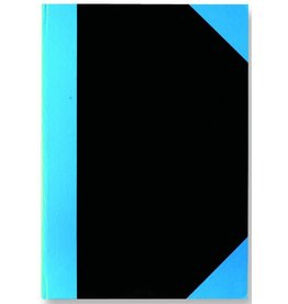 STYLEX Geschäftsbuch, liniert, A4, Einband: schwarz/blau, 96 Blatt