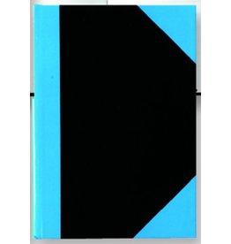 STYLEX Geschäftsbuch, liniert, A5, Einband: schwarz/blau, 96 Blatt