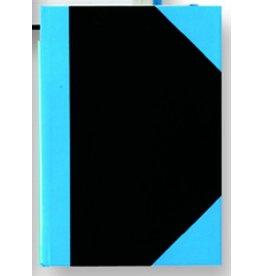STYLEX Geschäftsbuch, liniert, A6, Einband: schwarz/blau, 96 Blatt