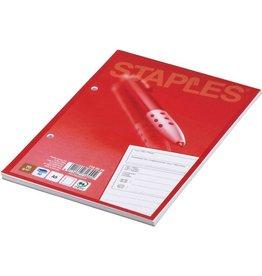 STAPLES Gesprächsnotiz, A5, 1fach, 70 g/m², 50 Blatt