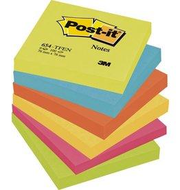 Post-it Haftnotiz Active, 76 x 76 mm, 5farbig sortiert, 100 Blatt