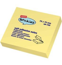 STAPLES Haftnotiz stickies™, 76 x 76 mm, gelb, 100 Blatt
