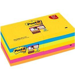 Post-it Haftnotiz Super Sticky, 76 x 76 mm, 5farbig sortiert, 90 Blatt