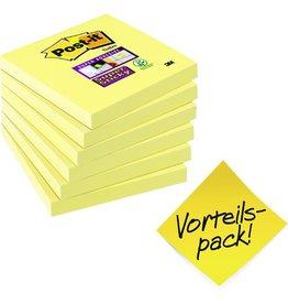 Post-it Haftnotiz Super Sticky, 76 x 76 mm, gelb, 90 Blatt