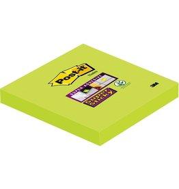 Post-it Haftnotiz Super Sticky, 76 x 76 mm, lindgrün, 90 Blatt