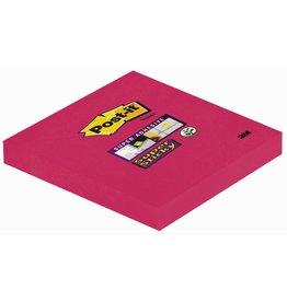 Post-it Haftnotiz Super Sticky, 76 x 76 mm, mohnrot, 90 Blatt