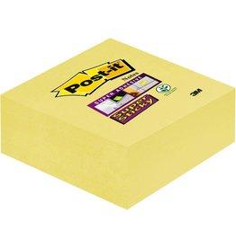 Post-it Haftnotizwürfel Super Sticky, 76 x 76 mm, gelb, 270 Blatt