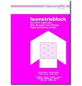 Hahnemühle Isometrieblock, A3, 80/85g/m², Druckf.: blau, 50Bl.