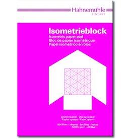 Hahnemühle Isometrieblock, A4, 80/85g/m², Druckf.: blau, 50Bl.