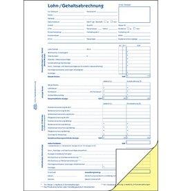 AVERY Zweckform Lohnabrechnung, A4, 2fach, selbstdurchschreibend, 2 x 40 Blatt