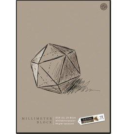 Edition Dürer Millimeterblock, satiniert, A3, 90 g/m², satiniert, 25 Blatt