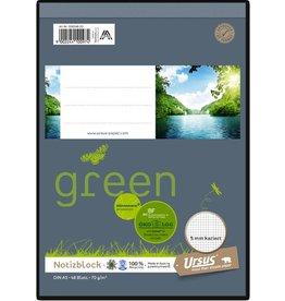 Ursus Green Notizblock, A5, 70 g/m², 48 Blatt