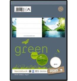 Ursus Green Notizblock, blanko, A5, 70 g/m², 48 Blatt