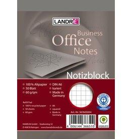 LANDRÉ Notizblock, kariert 5 mm, A6, 60g/m², RC, 50Bl.