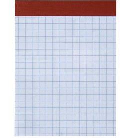BRUNNEN Notizblock, kariert, A7, 70 g/m², holzfrei, weiß, 50 Blatt [20st]