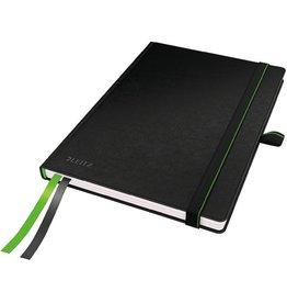 LEITZ Notizbuch Complete, kariert, A5, 100g/m², Einband: schwarz, 80Bl.