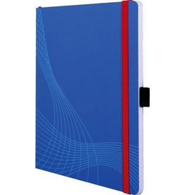 AVERY Zweckform Notizbuch notizio, Kunststoff, kariert, A5, Einband: blau, 80 Blatt