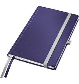 LEITZ Notizbuch Style, kariert, A5, 100 g/m², Einband: titan blau, 80 Blatt