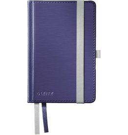 LEITZ Notizbuch Style, kariert, A6, 100 g/m², Einband: titan blau, 80 Blatt