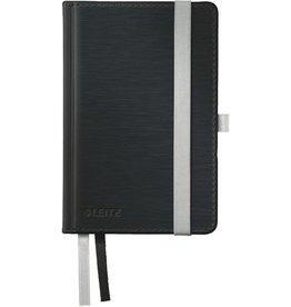 LEITZ Notizbuch Style, kariert, A6, Einband: satin schwarz, 80 Blatt
