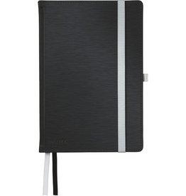 LEITZ Notizbuch Style, liniert, A5, Einband: satin schwarz, 80 Blatt