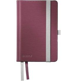 LEITZ Notizbuch Style, liniert, A6, 100 g/m², Einband: granat rot, 80 Blatt