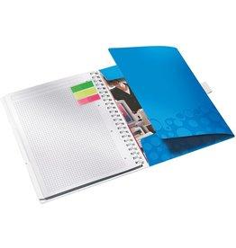 LEITZ Notizbuch WOW Be mobile, kariert, A4, Einband: blaumetallic, 80 Blatt