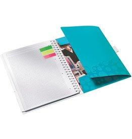 LEITZ Notizbuch WOW Be mobile, kariert, A4, Einband: eisblau, 80 Blatt