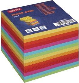 STAPLES Notizwürfel, 90 x 90 mm, Recycling, sortiert, 800 Blatt