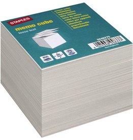 STAPLES Notizzettel, 90 x 90 mm, Recycling, grau