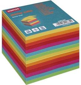 STAPLES Notizzettel, 90 x 90 mm, Recycling, sortiert