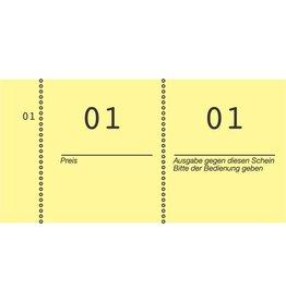 AVERY Zweckform Nummernblock, 1 - 1.000, 105 x 53 mm, gelb