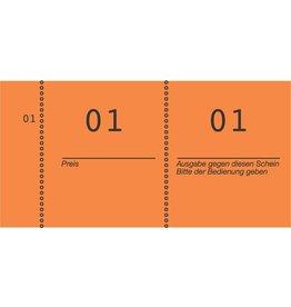 AVERY Zweckform Nummernblock, 1 - 1.000, 105 x 53 mm, orange