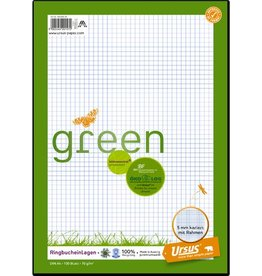 Ursus Green Ringbucheinlage, kariert 5 mm, A4